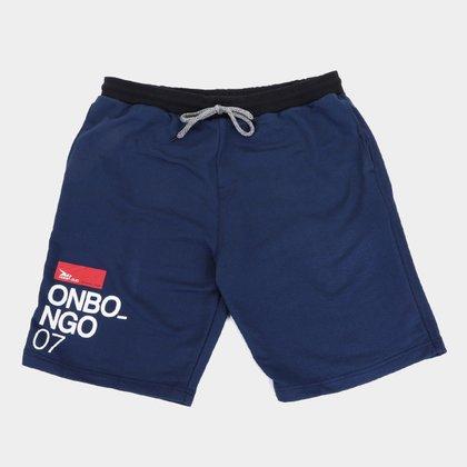 Bermuda Moletom Onbongo Logo Plus Size Masculina