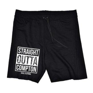 Bermuda Moletom Straight Outta Compton Masculina