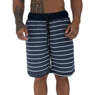 Bermuda MXD Conceito Moletom Slim Listrado Masculina