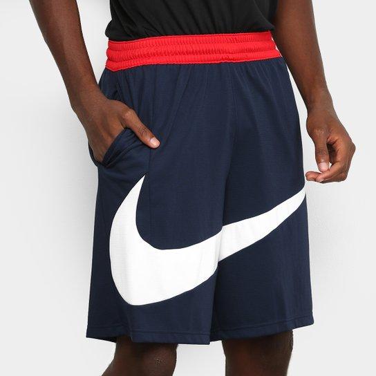 Bermuda Nike Dri-Fit 2.0 Masculina - Marinho+Branco