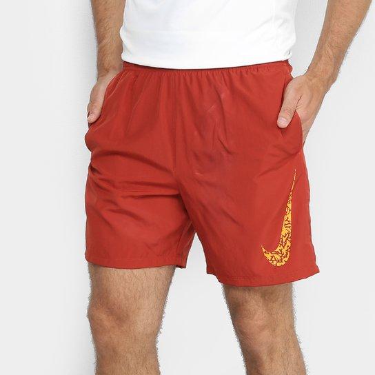 "Bermuda Nike DRI-FIT Core 7"" Gx Masculino - Vermelho+Laranja"