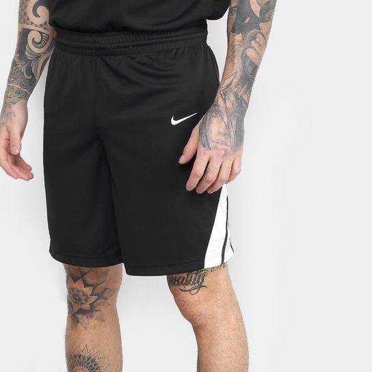 Bermuda Nike Dri-Fit STK Masculina - Preto+Branco