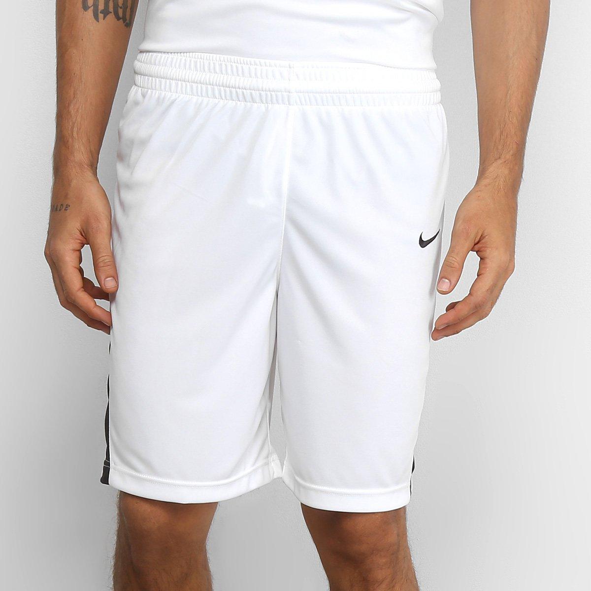 9e383fbf89526 Bermuda Nike Dri-Fit STK Masculina - Branco e Preto - Compre Agora ...