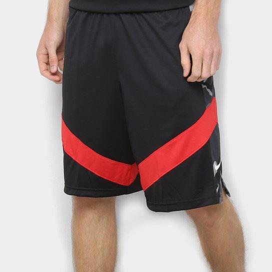Bermuda Nike Dry Courtlines Masculina - Preto+Vermelho