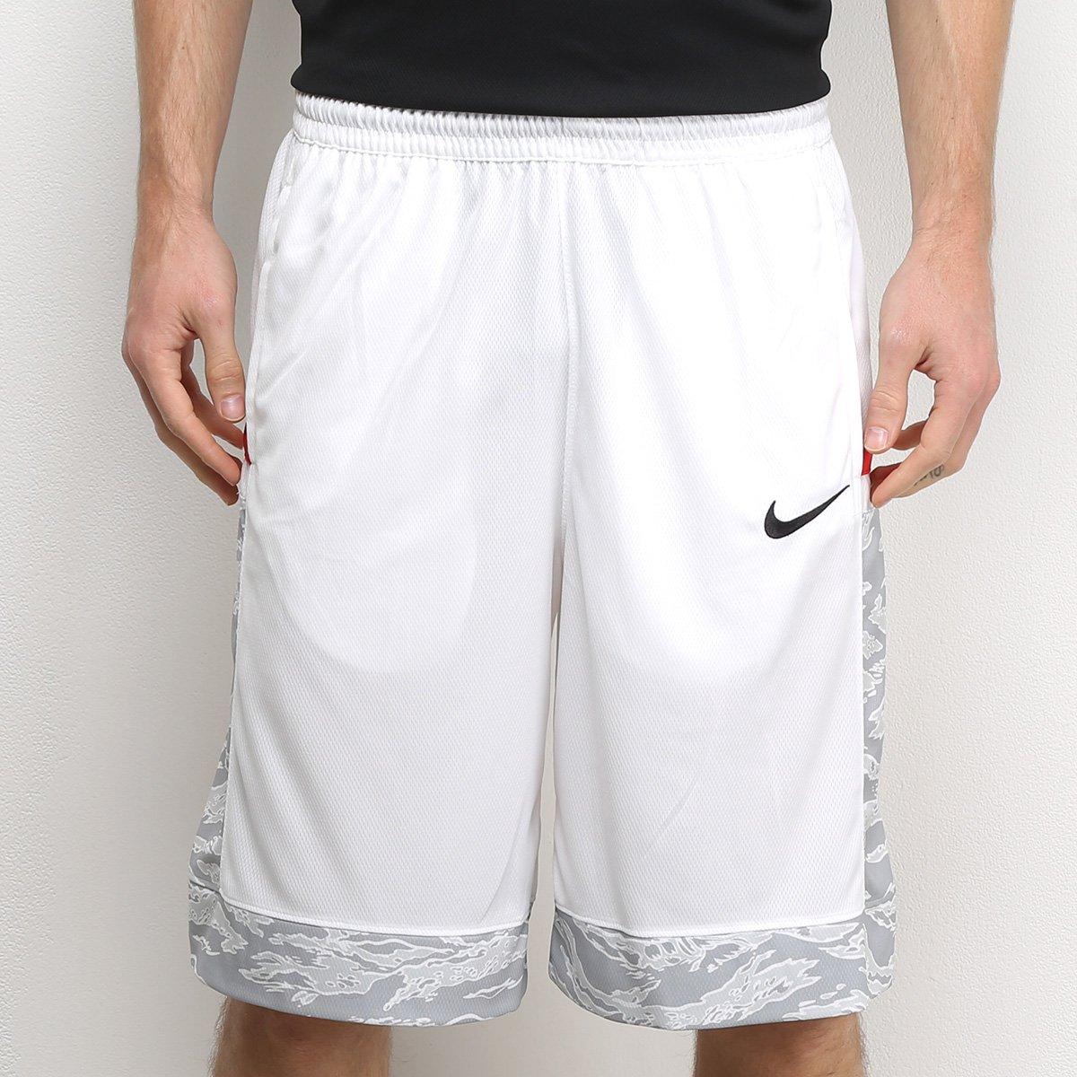 clientes primero más tarde comprar el más nuevo Bermuda Nike Dry Courtlines Print Masculina - Branco e Preto ...
