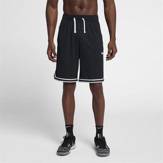 Bermuda Nike Dry DNA Masculina - Preto+Branco