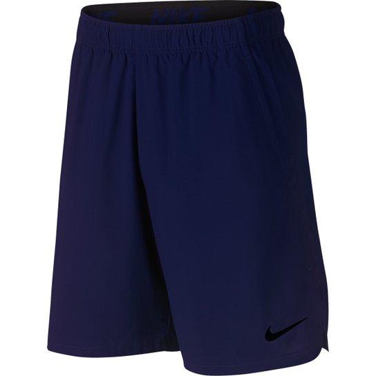 Bermuda Nike Flx Woven 2.0 Masculina - Azul+Preto
