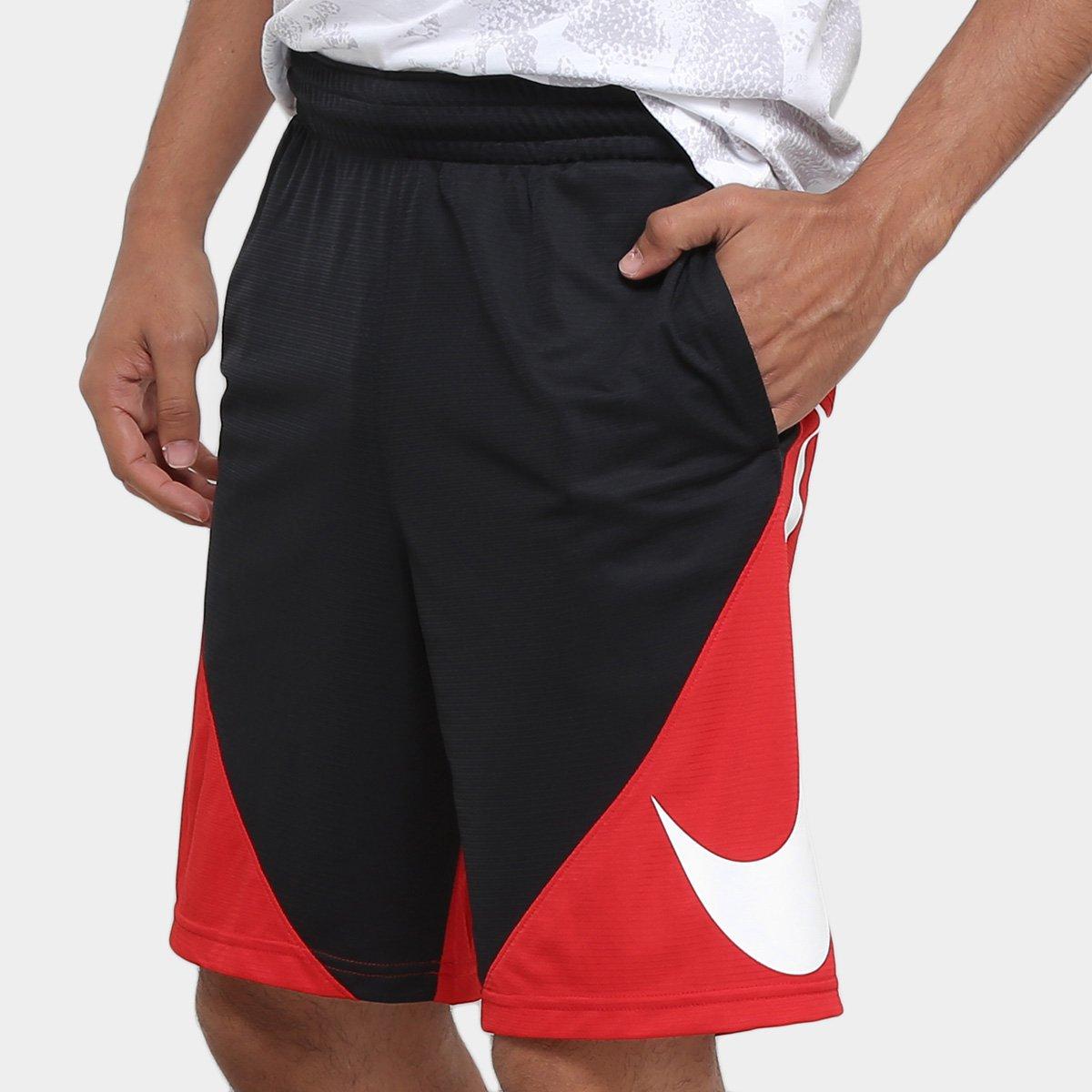 famosa marca de diseñador super servicio estilo distintivo Bermuda Nike HBR Masculina - Preto e Vermelho | Netshoes