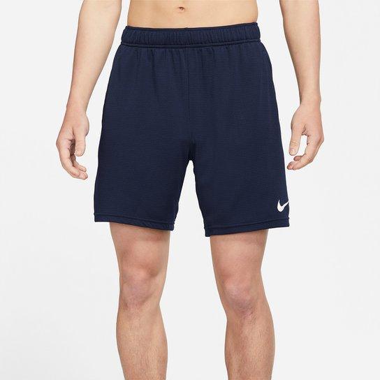 Bermuda Nike Monster Mesh 5.0 Masculina - Branco+Marinho