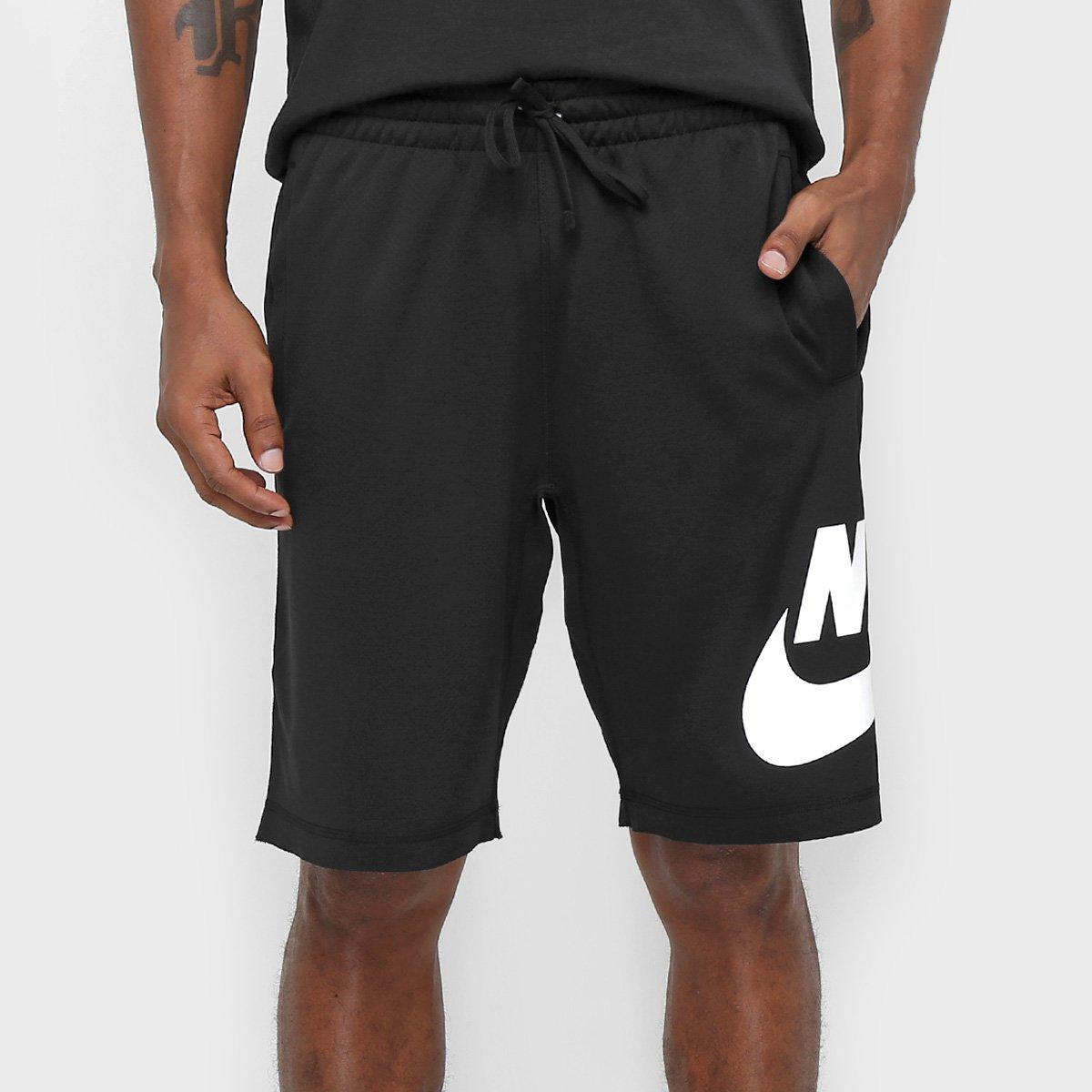 Bermuda Nike SB Dry Reta Masculina - Preto e Branco - Compre Agora ... 183c62f1fa7