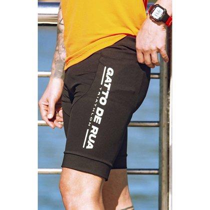 Bermuda Power Triathlon Masculina - Preta