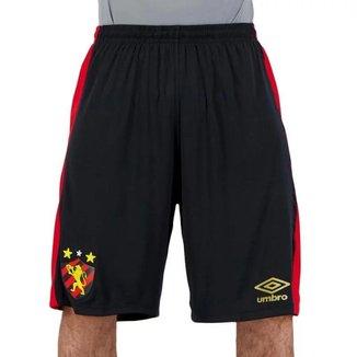 Bermuda Umbro Sport Recife I Basquete 2020 Oficial Masculina - Preto e Vermelho