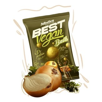 BEST VEGAN BALLS 12 UNIDADES - ATLHETICA NUTRITION (CEBOLA E SALSA)