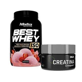 Best Whey Iso 900g Atlhetica + Creatina 100g Dux Nutrition