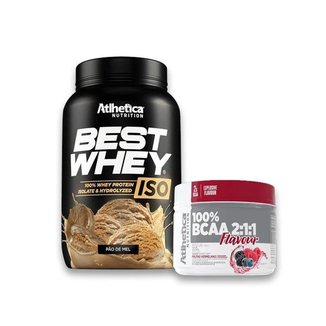 Best Whey Iso 900g + Bcaa 2:1:1 Flavour 210g - Atlhetica