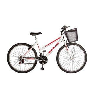 Bicicleta 26 KLS Sport Freio V-Brake 21V Feminina MTB