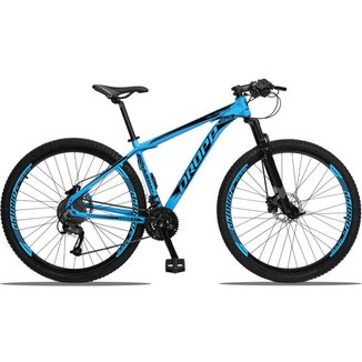 Bicicleta 27 Marchas Freio Hidráulico Dropp Aluminum Aro 29 Câmbio Traseiro Shimano Acera