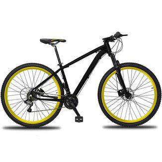 Bicicleta 27V Aro 29 Drais Clean Câmbio Shimano Freio Hidráulico Alumínio MTB