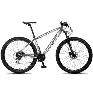 Bicicleta 29 Dropp RS1-PRO 24V Cambio Acera Pedivela Shimano Susp c/ Trava Freio Hidráulico Cubo K7