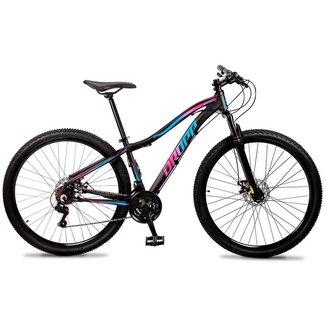 Bicicleta 29 Feminina Dropp Flowers 21 Marchas Freio a Disco Quadro em Alumínio