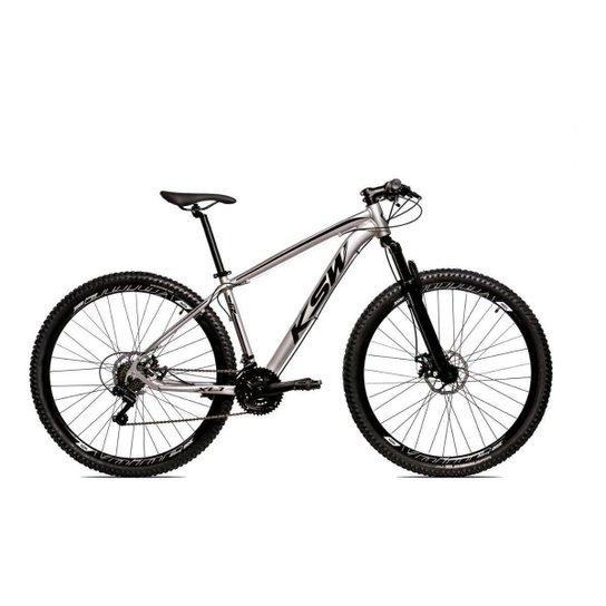 Bicicleta Alum 29 Ksw Cambios GTA 24 Vel A Disco Ltx Hidráulica - Prata+Preto