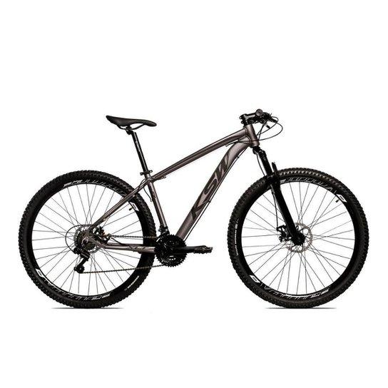 Bicicleta Alum 29 Ksw Cambios GTA 24 Vel A Disco Ltx Hidráulica - Grafite+Preto