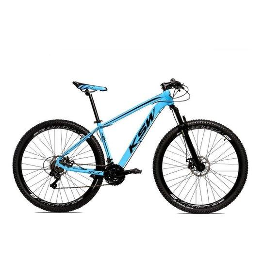 Bicicleta Alum 29 Ksw Cambios Gta 24 Vel A Disco Ltx - Azul+Preto