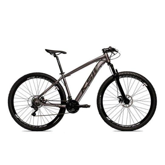Bicicleta Alum 29 Ksw Cambios Gta 24 Vel A Disco Ltx - Grafite+Preto
