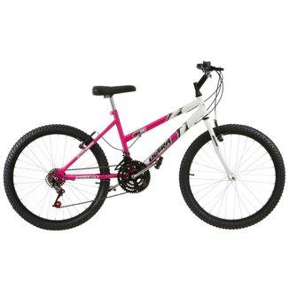 Bicicleta Aro 24 Feminina Bicolor 18 Marchas Aço Carbono Ultra Bikes