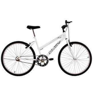 Bicicleta Aro 24 Feminina Menina Sem Marcha Branca