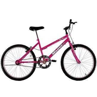 Bicicleta Aro 24 Feminina Menina Sem Marcha Pink