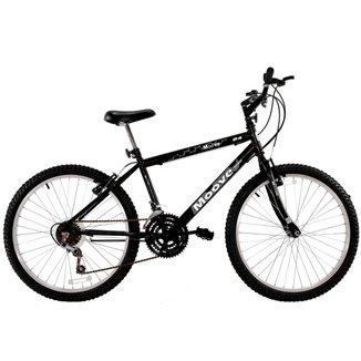 Bicicleta Aro 24 Masculina Menino 18 Marchas Preta