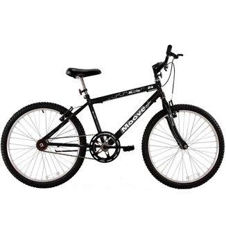 Bicicleta Aro 24 Masculina Menino Sem Marcha Preta