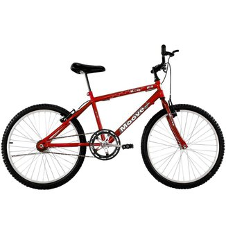 Bicicleta Aro 24 Masculina Menino Sem Marcha Vermelha