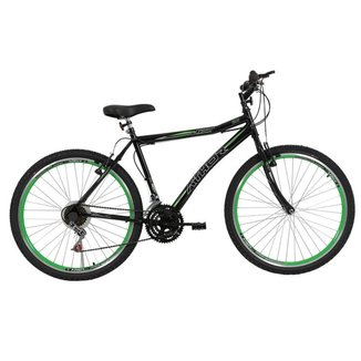 Bicicleta Aro 26 Athor Jet 18v Masculino Preto Verde