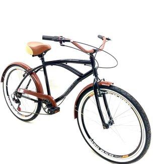 Bicicleta Aro 26 Beach Masculina 7V