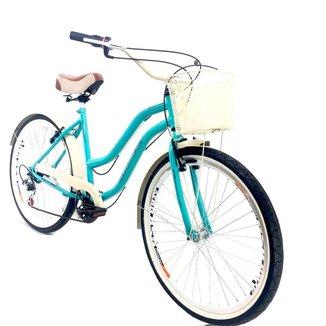 Bicicleta Aro 26 Beach Route 7V Feminina