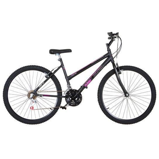 Bicicleta Aro 26 Feminina 18 Marchas Aço Carbono Ultra Bikes - Preto