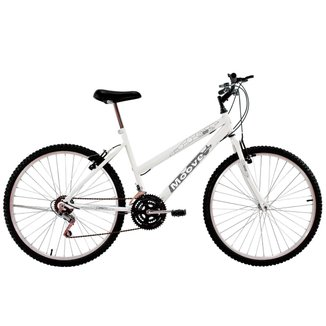 Bicicleta Aro 26 Feminina Adulto 18 Marchas Branca