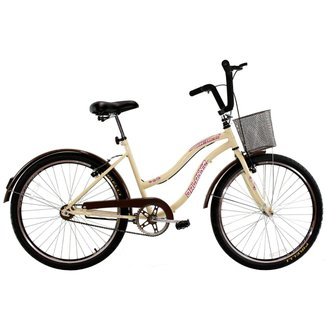 Bicicleta Aro 26 Feminina Beach Retrô Vintage