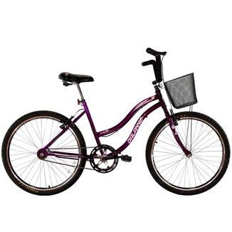 Bicicleta Aro 26 Feminina Beach Sem Marcha