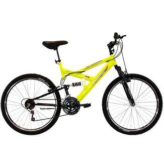 Bicicleta Aro 26 Full-S Dupla Suspensão Max 260 18 Marchas