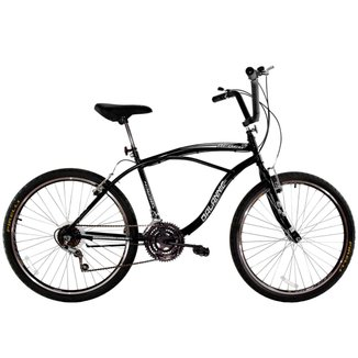 Bicicleta aro 26 Masculina Beach 18 Marchas Comfort