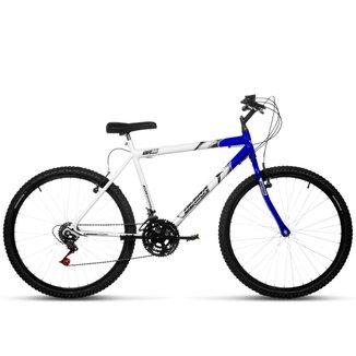Bicicleta Aro 26 Masculina Bicolor 18 Marchas Aço Carbono Ultra Bikes