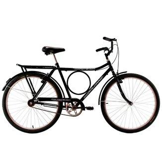 Bicicleta Aro 26 Masculina Potencia V-Break com Bageiro e Paralama