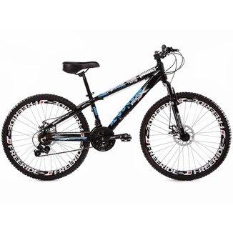Bicicleta Aro 26 Pro X Predador Freeride Freio a Disco 21 Marchas Câmbios Importado