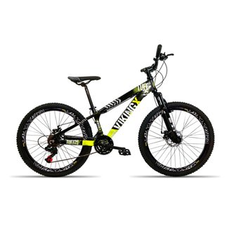 Bicicleta Aro 26 Vikingx X25 Tuff 21V Cambios Shimano Freio Hidraulico Aro Vmax