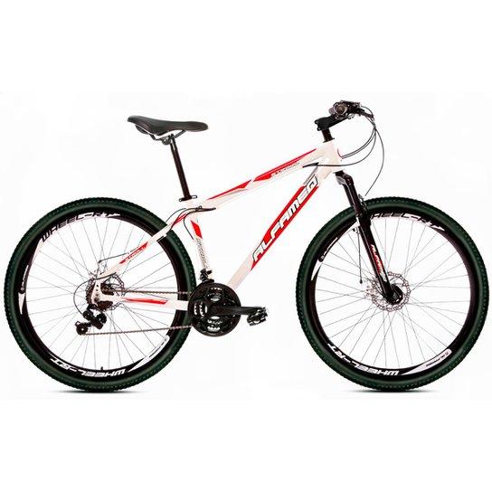 Bicicleta Aro 29 Alfameq Stroll  Freio À Disco 21 Marchas - Branco+Vermelho
