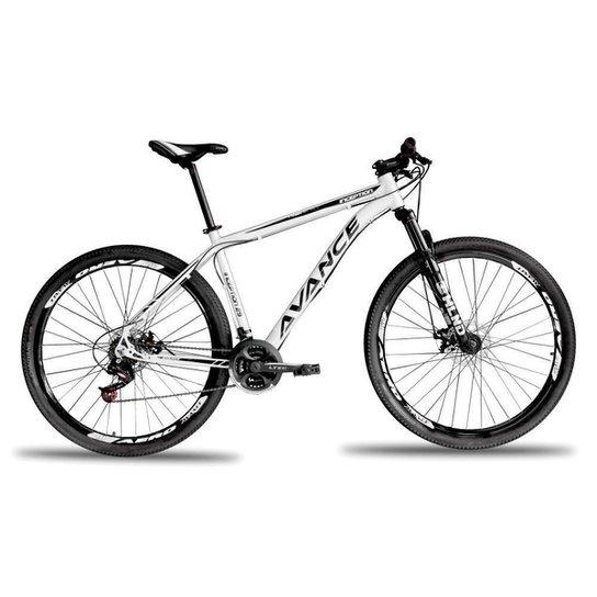 Bicicleta Aro 29 Avance 21 Marchas Câmbio  Trocador RapidFire - Branco
