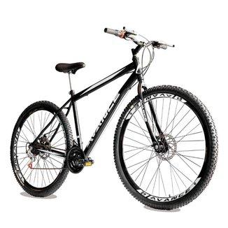 Bicicleta Aro 29 de Aço 21 Velocidades Freio a Disco Garfo Rígido